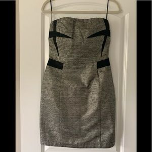 See By Chloe Dresses - See by Chloe Strapless Metallic Dress